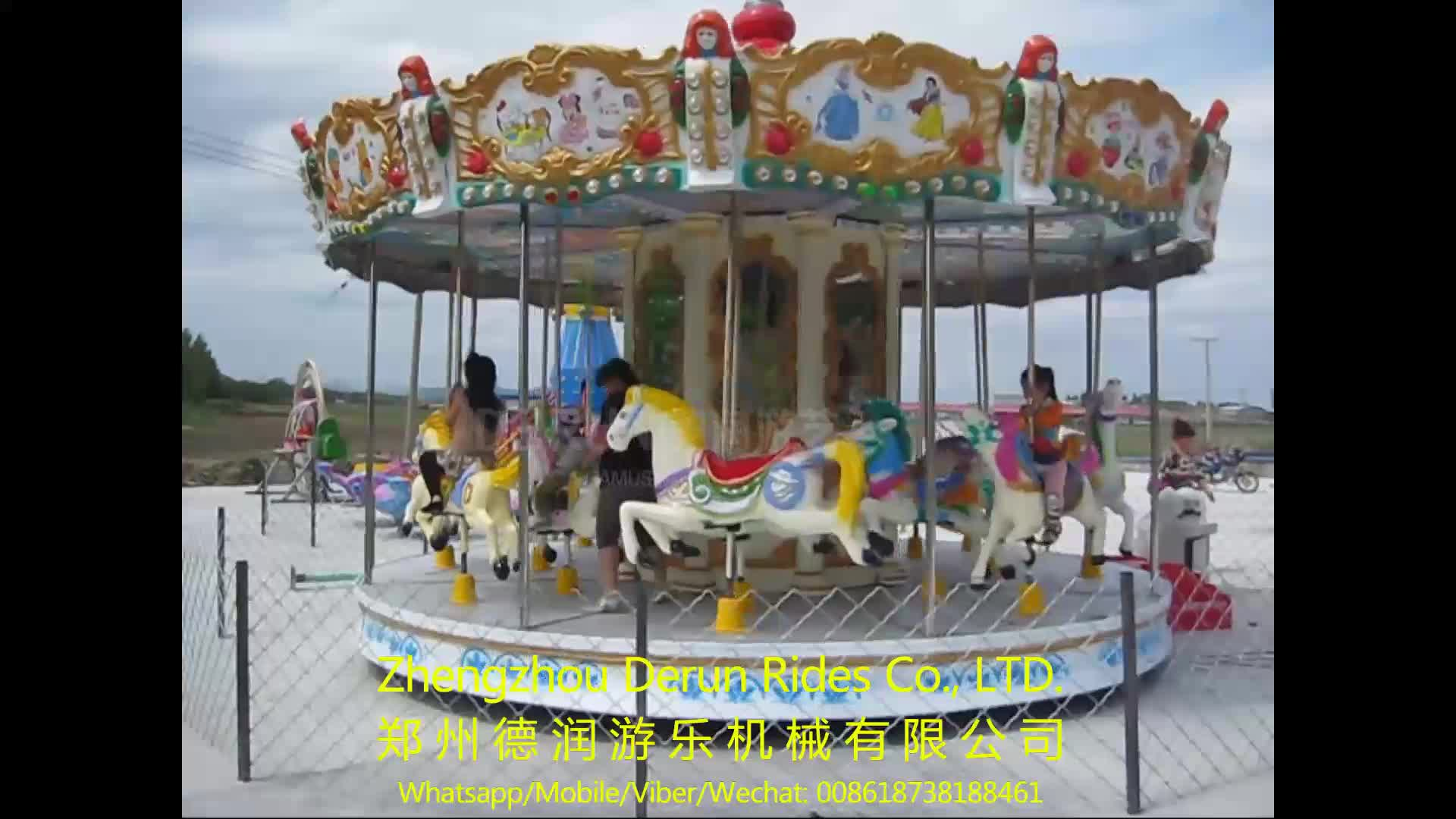Video Available!!! 2016 Children Games Musical Carousel Hores for sale, Merry go round for kids