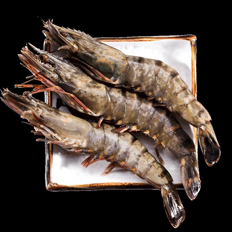 黑虎虾超大越南特大冷冻老虎虾大虾味库海鲜水产鲜活速冻370g/盒