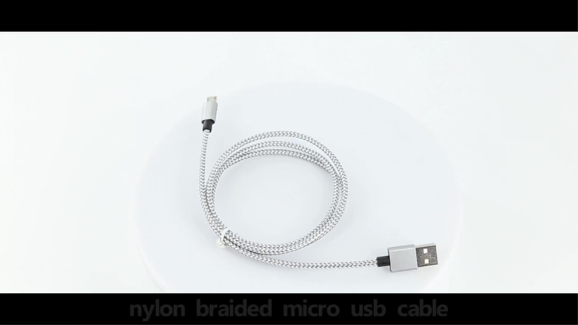 colorful Wholesale data charging micro usb cable for micro nylon braid usb data cable