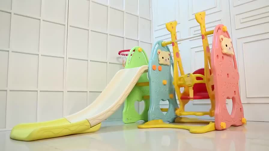 Ihram Kids For Sale Dubai: Mini Color Baby Play House Indoor Plastic Slide And Swing