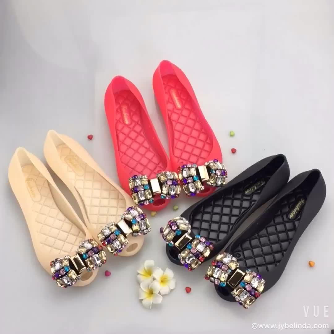 Slittamento piatto su sandalo donne fannullone scarpe casual per il commercio all'ingrosso