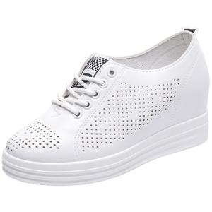夏季2021新款内增高小白鞋透气网鞋