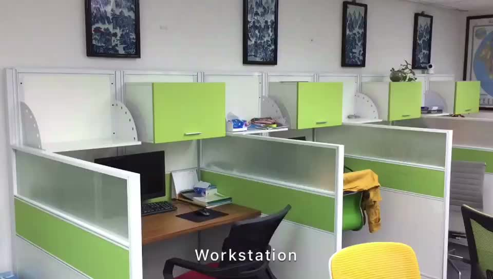 usa market office call center office workstation for six