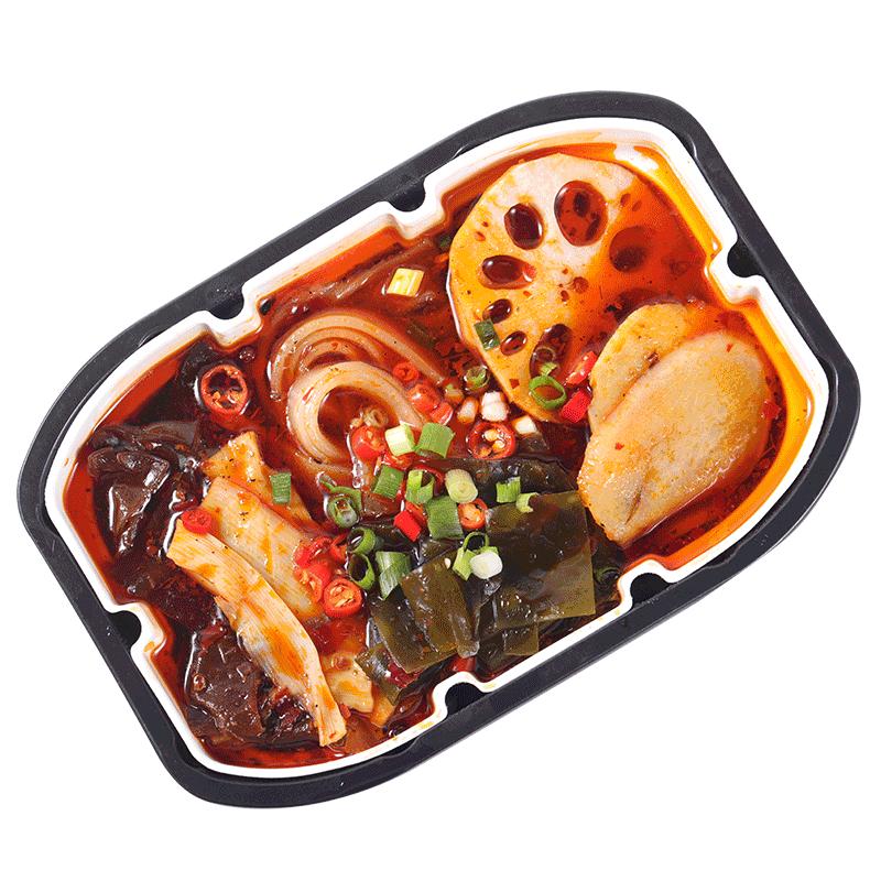 顿顿鲜自热小火锅速食重庆牛油麻辣懒人火锅方便携带即食素菜版