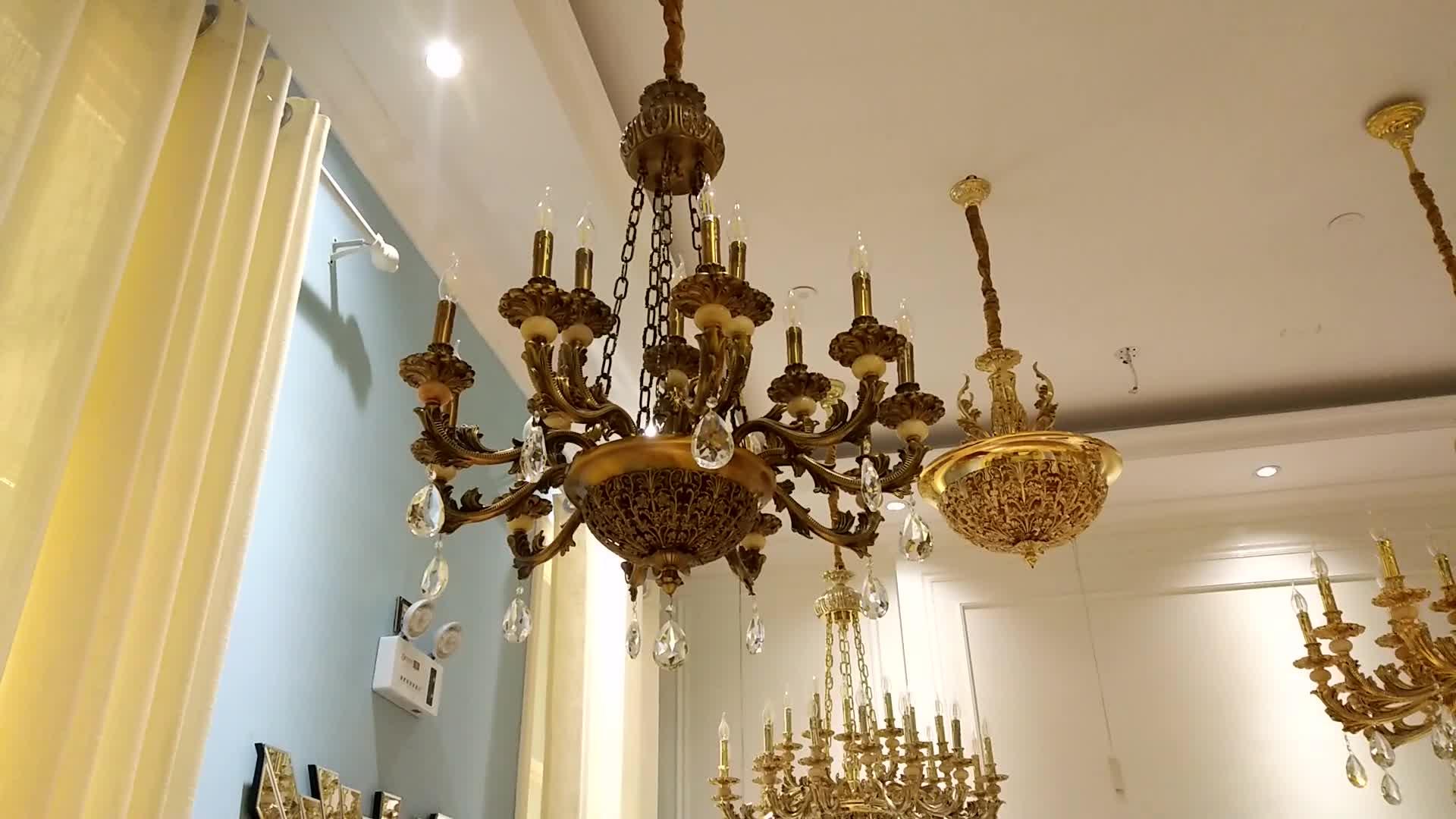 2020 HongKong Large hotel decoration chandelier modern zinc alloy Pendant Lights lighting fixtures