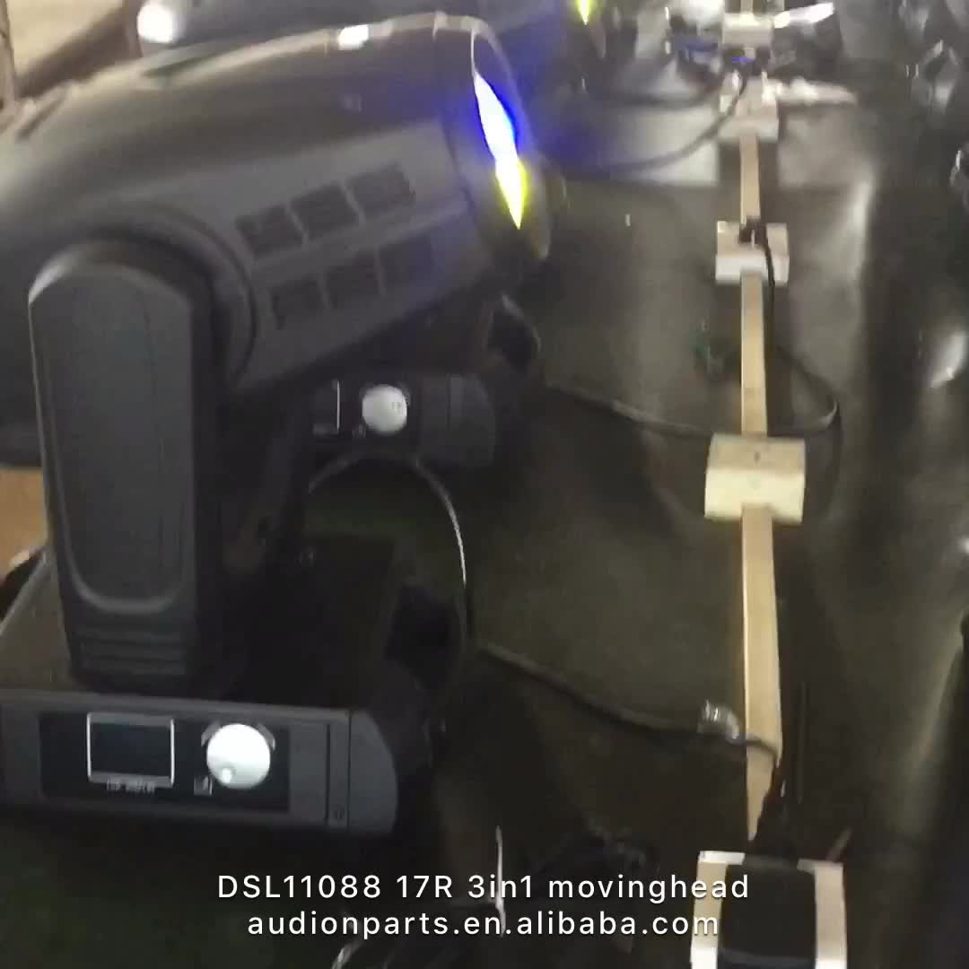 17R Beam Spot Wash 3 in 1 350w Pattern LED Stage Sky Moving Head Light