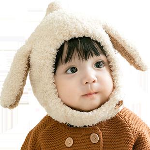 婴儿帽子秋冬季婴幼儿男童护耳围巾