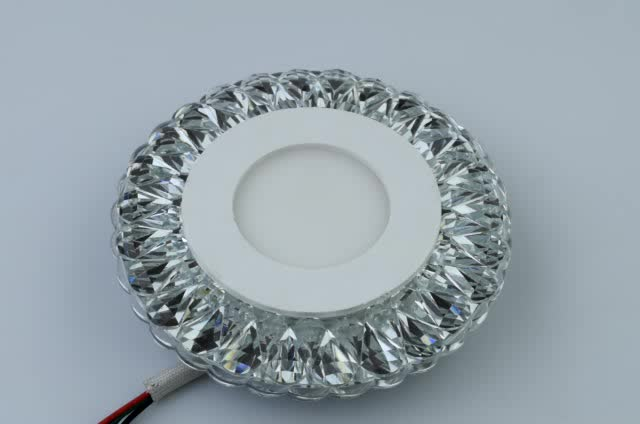 Acrylic COB 3W built-in down light color Crystal embedded recessed ceiling led spot light flat lamp