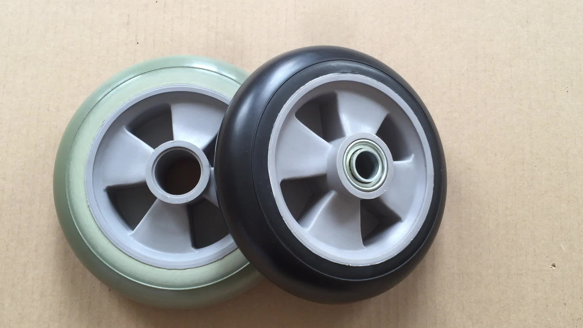 6 Inch PU Rubber Wheels/Tire for Kids Toys