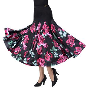 丹宝罗新款国标舞半身摩登舞大摆裙
