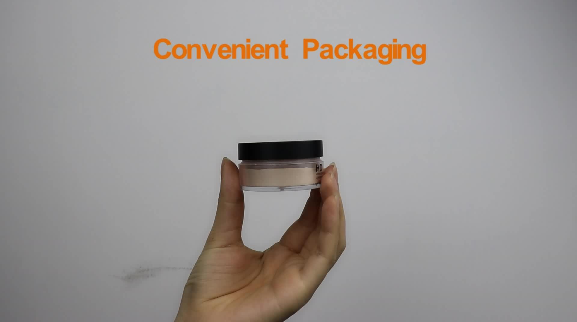 OEM foundation cosmetics glitter and waterproof loose powder