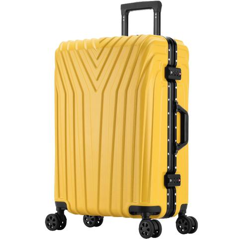 行李箱女旅行拉杆箱轻便万向轮24密码皮箱子小20寸男大容量铝框28