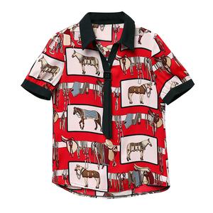 夏装短袖2021新款女士设计感衬衫