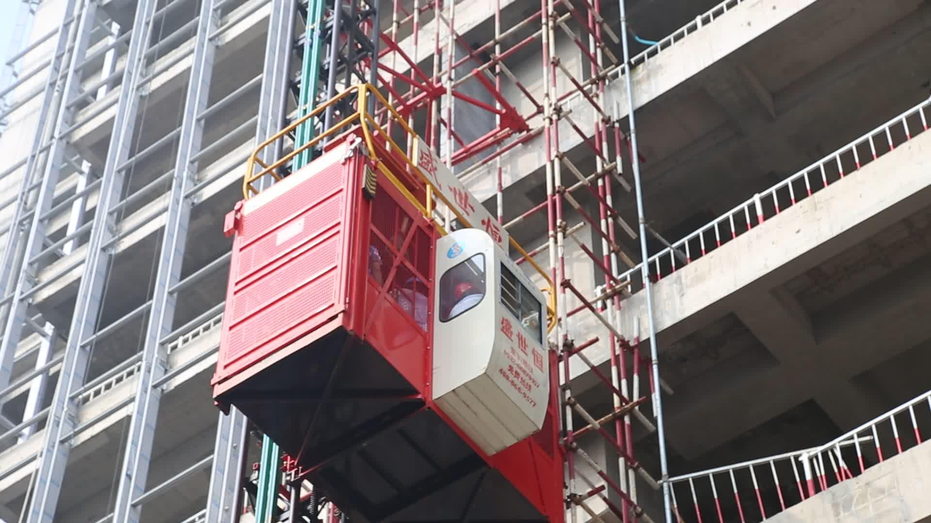ลิฟท์กรงวัสดุก่อสร้างขนาด 1,000 กก
