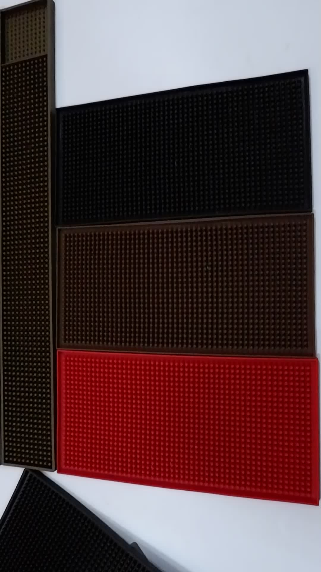 factory Custom embossed logo soft PVC rubber bar spill mat/PVC bar mat/bar runner