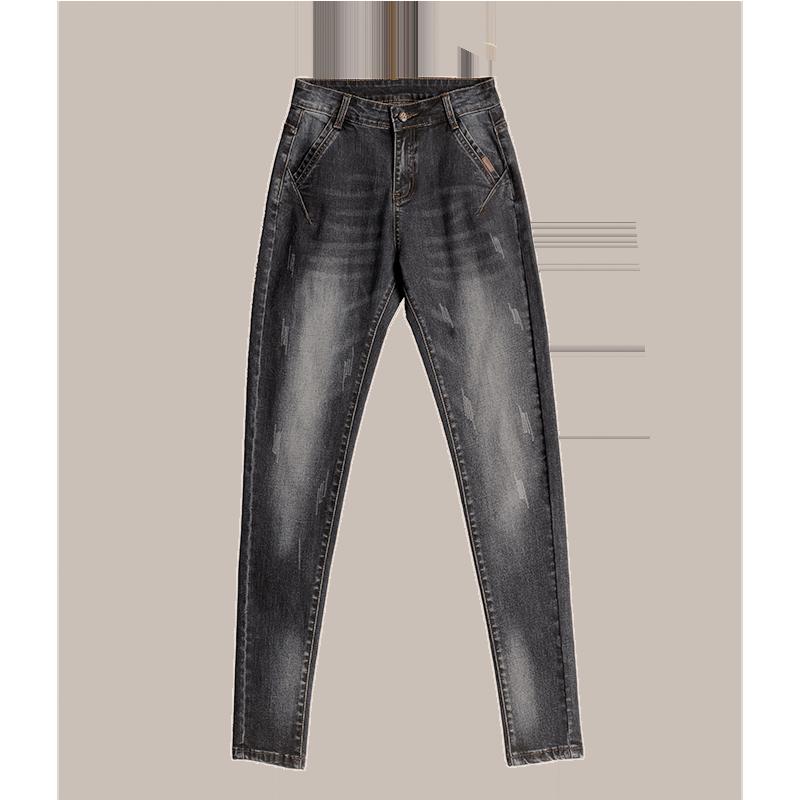 哈伦牛仔裤女宽松直筒夏季2020年新款裤子显瘦黑色高腰老爹裤女士