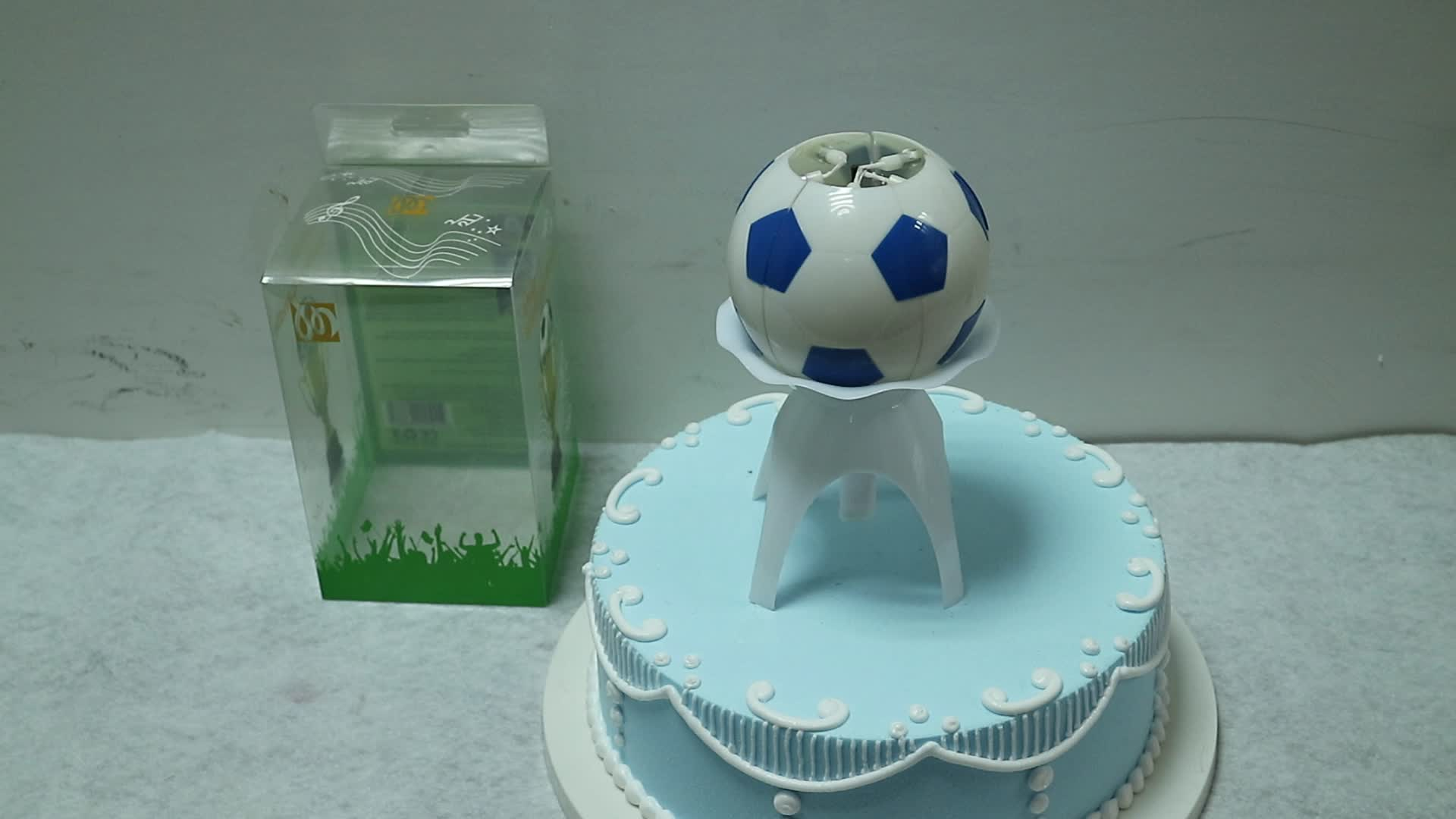 Amazing Soccer Ball Musical Birthday Candle with PVC package