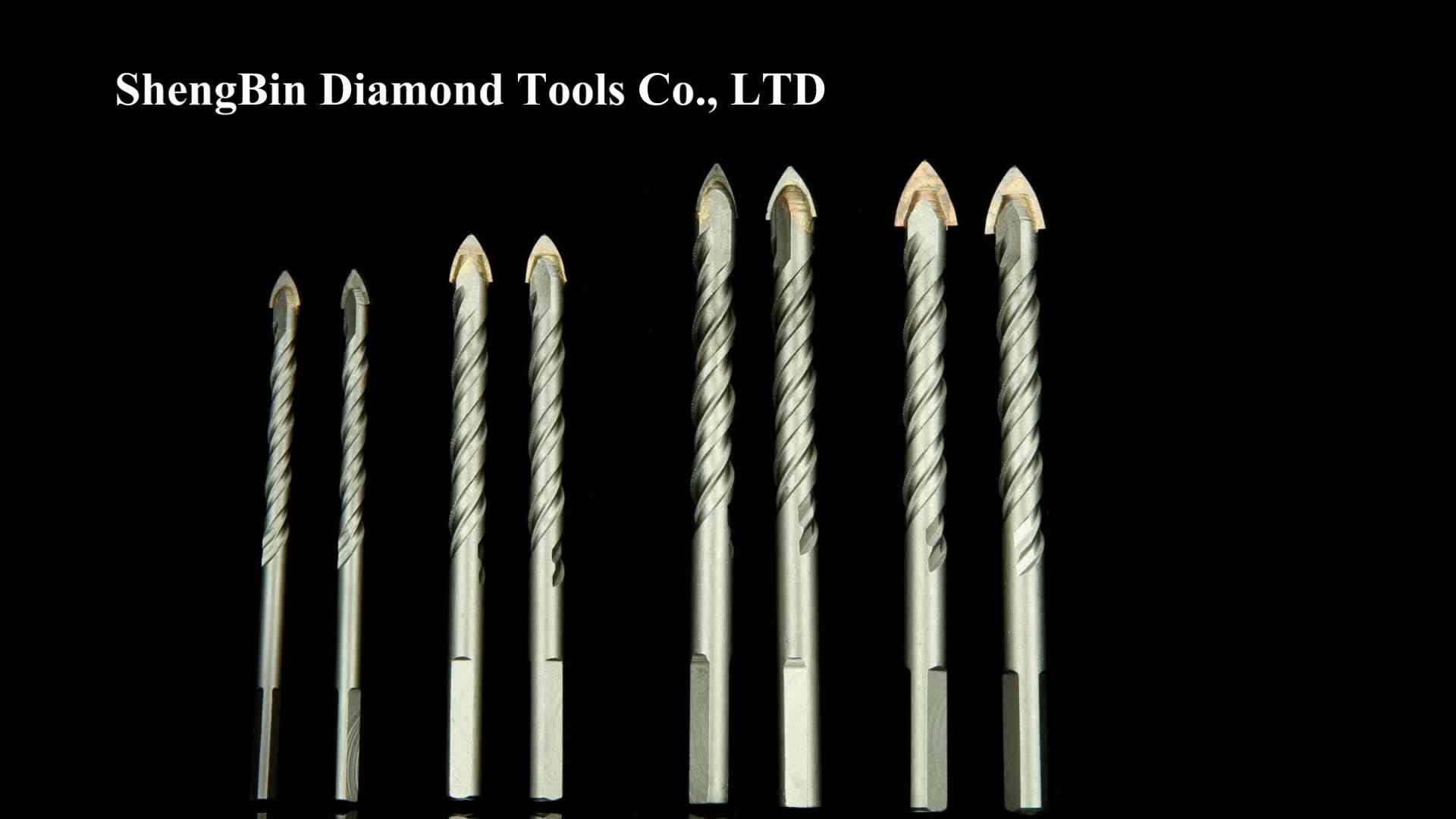 Silver Triangle Tip Drill Bits Carbide Tile Glass Drill Bit Concrete