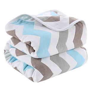 【百花】宝宝100%纯棉6层加厚毛巾被