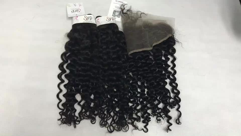 Natural Black Jerry Curl On Natural Cuticle Aligned Human Aligned Human Bundle Wraps For Hair Extensions 1 Donor
