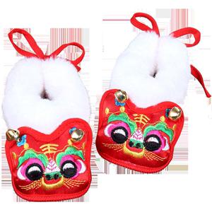 男女童宝宝抓周加绒周岁生日虎头鞋