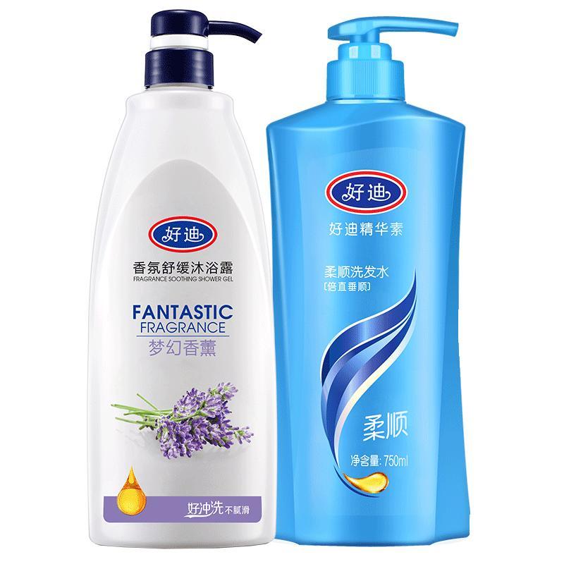 好迪沐浴露组合装二件套去屑洗发水质量怎么样
