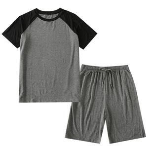 夏季莫代尔短袖男士睡衣