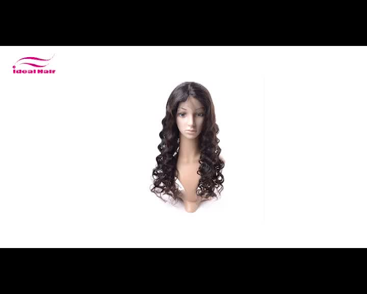 cheap lace wig human hair, human hair lace front wig, silk base front lace wig with baby hair