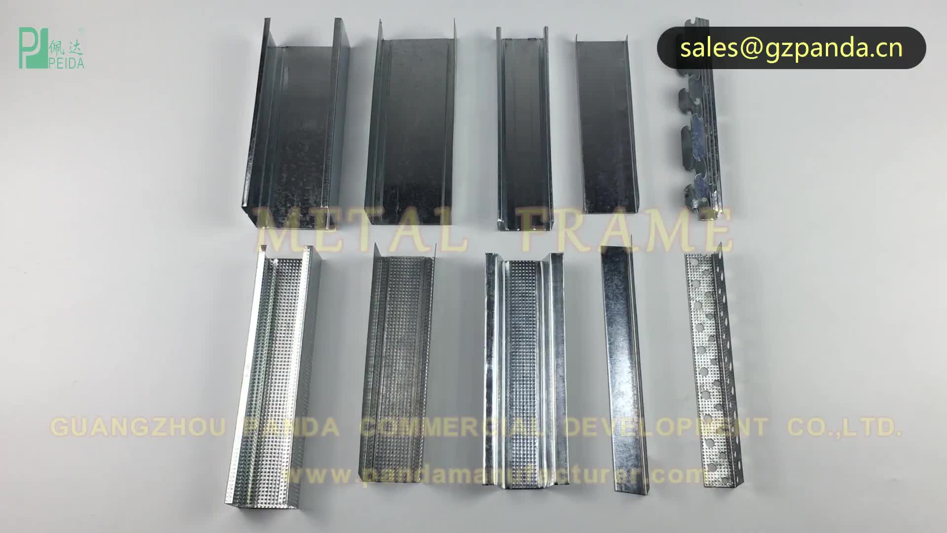 Drywall Construction Corrugated C Shaped Metal Studs In Guangzhou