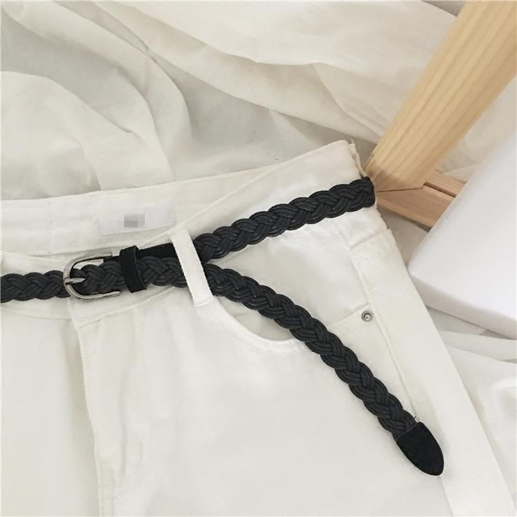 Большой сим небольшой sim2017 корейский краткий дикий ткать кожаный ремень мисс студент ремень модный для досуга фигурные скобки