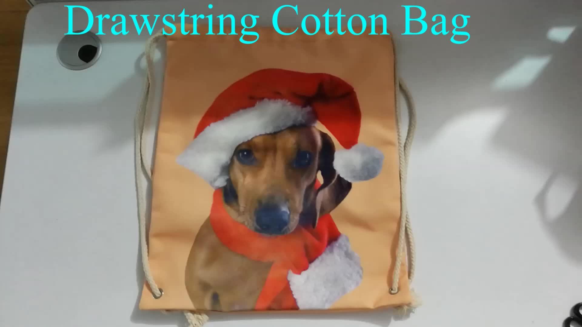 2020 Hot sale promotion gift 100% cotton drawstring bag