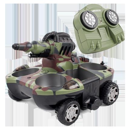 遥控坦克船儿童对战坦克遥控玩具