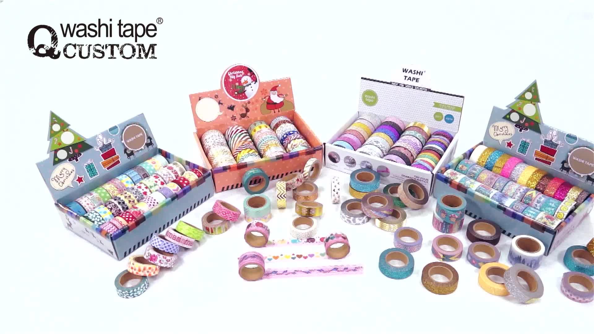 QCUSTOM DIY paper christmas craft wholesale washi tape