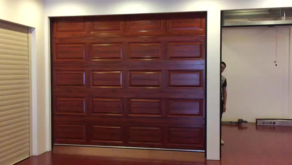 used Aluminium Sectional Frost glass panel garage screen door for sale remote control