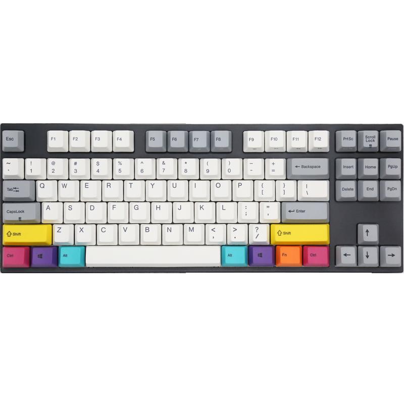 varmilo阿米洛va87m CMYK机械键盘游戏 cherry樱桃茶轴静音红轴