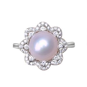 天然淡水爱迪生巴洛克珍珠925戒指
