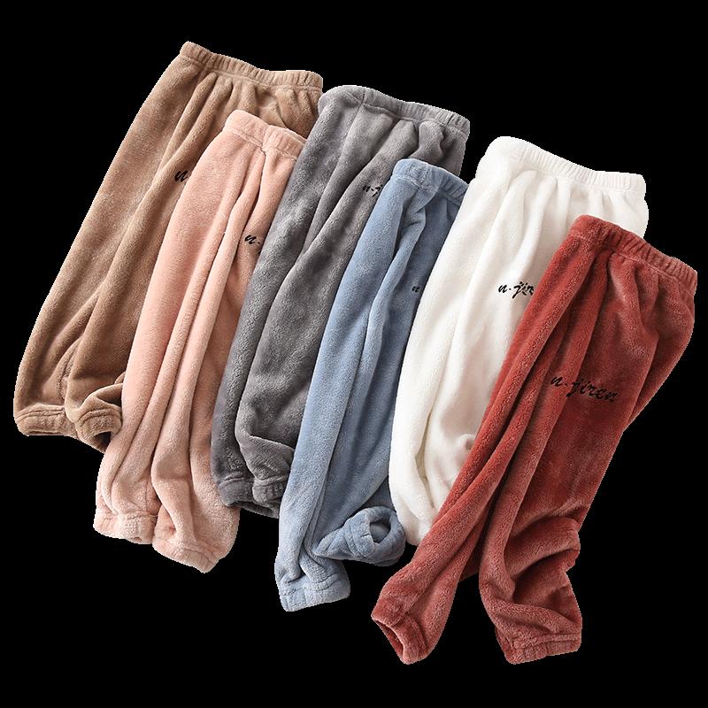 儿童暖暖裤加绒女童打底裤男童装冬季保暖睡裤加厚宝宝外穿童裤子