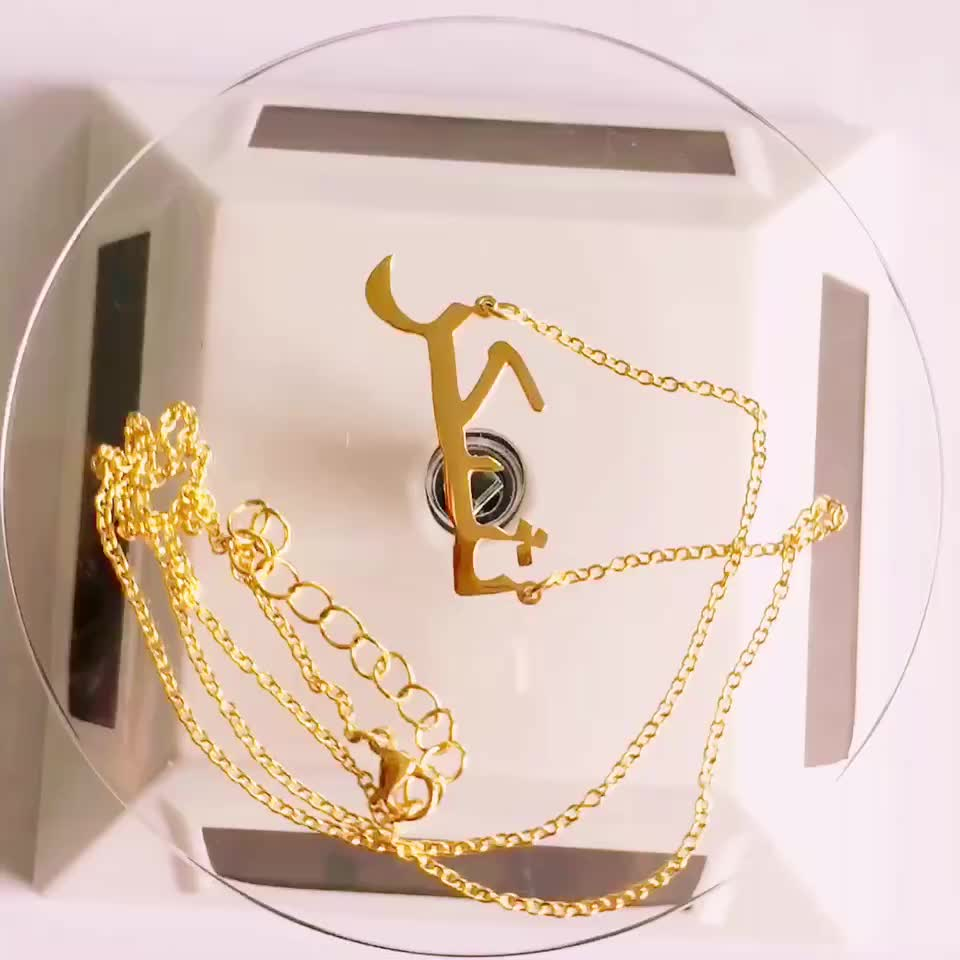 Stainless Steel Personalized Custom Any Name Choker Necklace 18K Gold Plated Handwriting Customized Nameplate Necklace