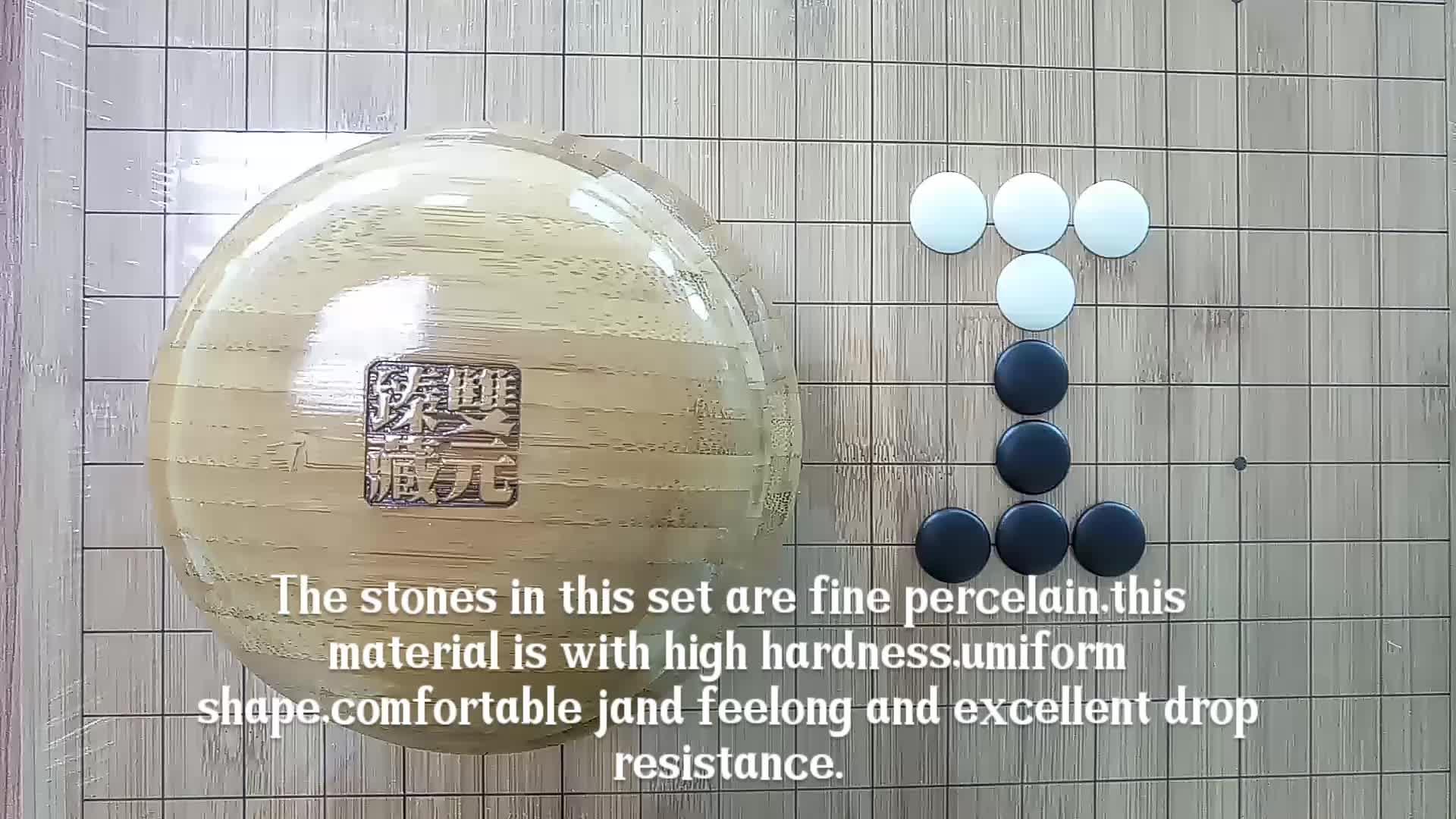 Peças de cerâmica ir jogo de tabuleiro de xadrez de bambu e madeira de faia Chinês go jogo de xadrez jogo de xadrez para crianças