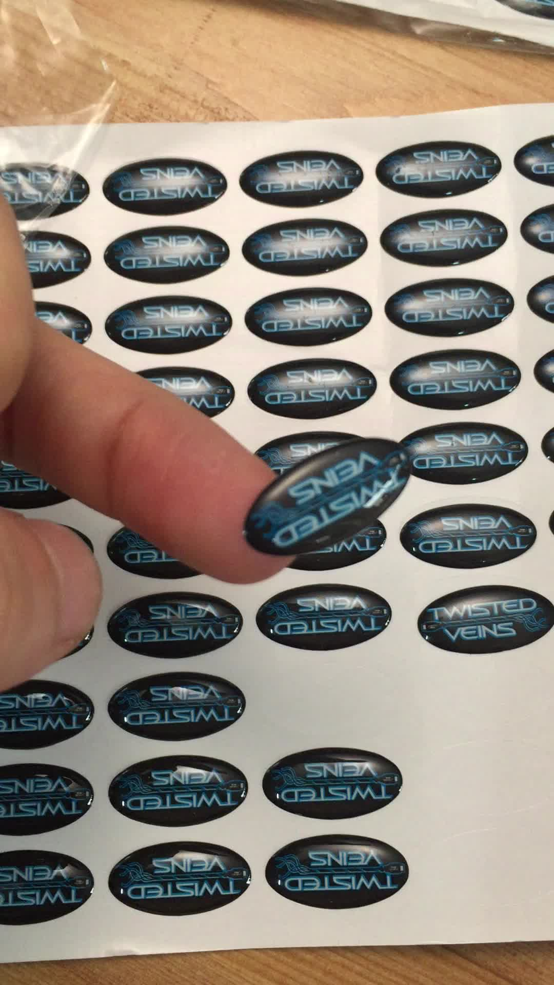 Promotional custom clear epoxy sticker