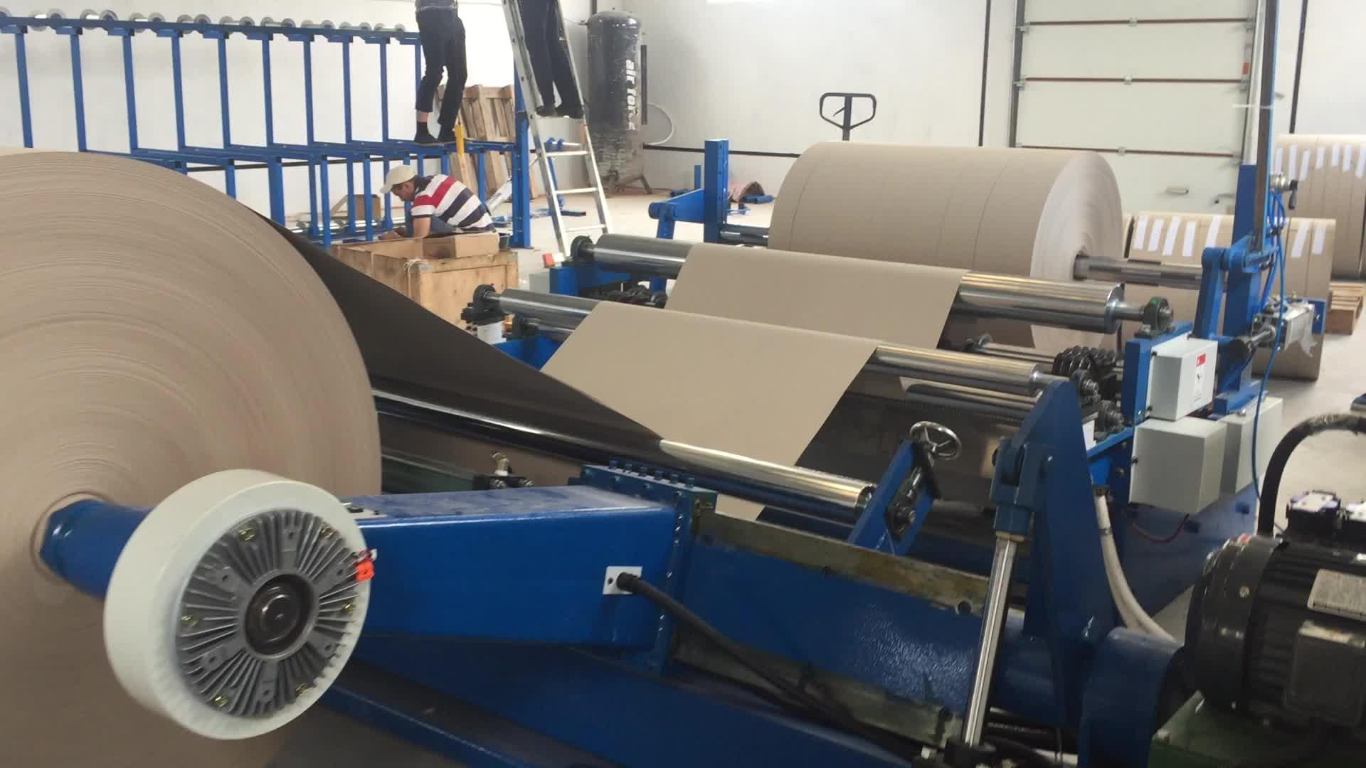 Haute Vitesse Jumbo Rouleau de Papier Machine De Rebobineuse De Découpeuse