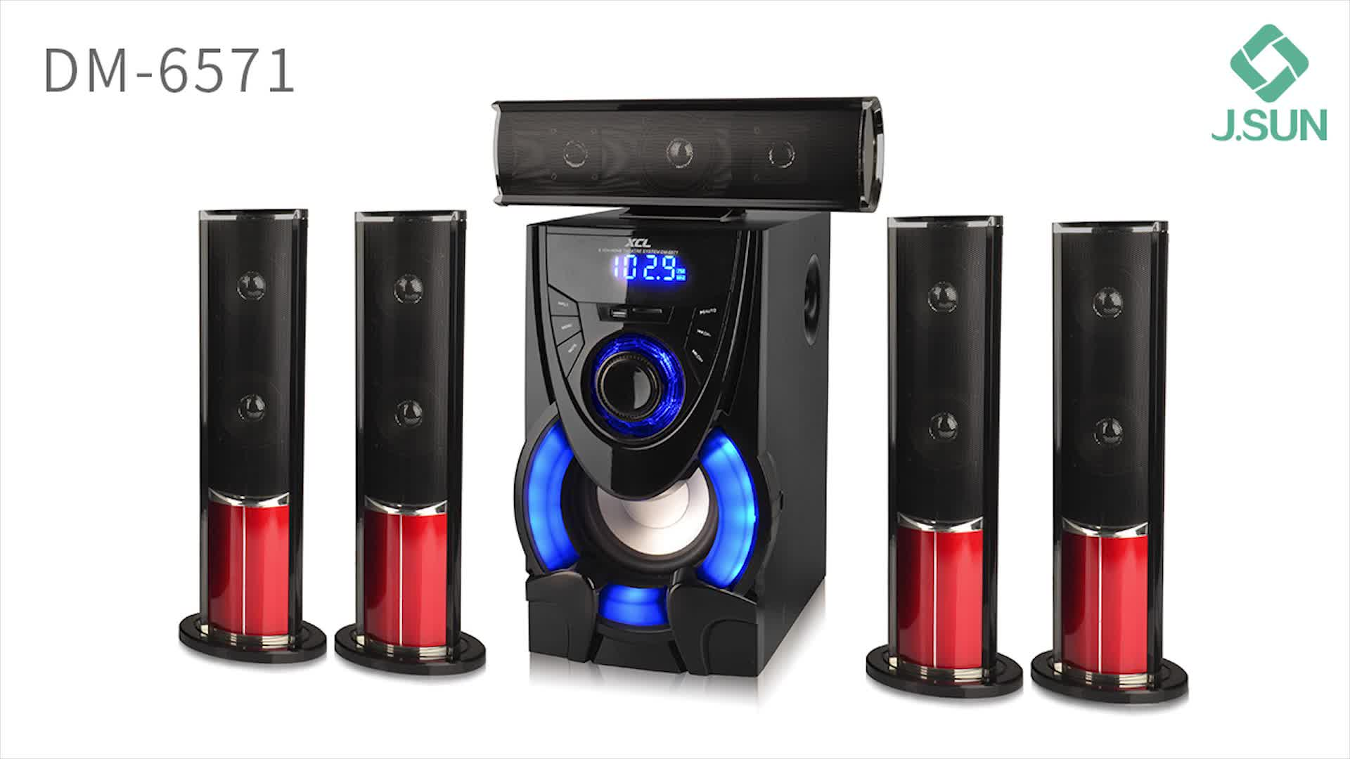 Wireless 7.1 5.1 channel amplifier home theatre system blue tooth speakers
