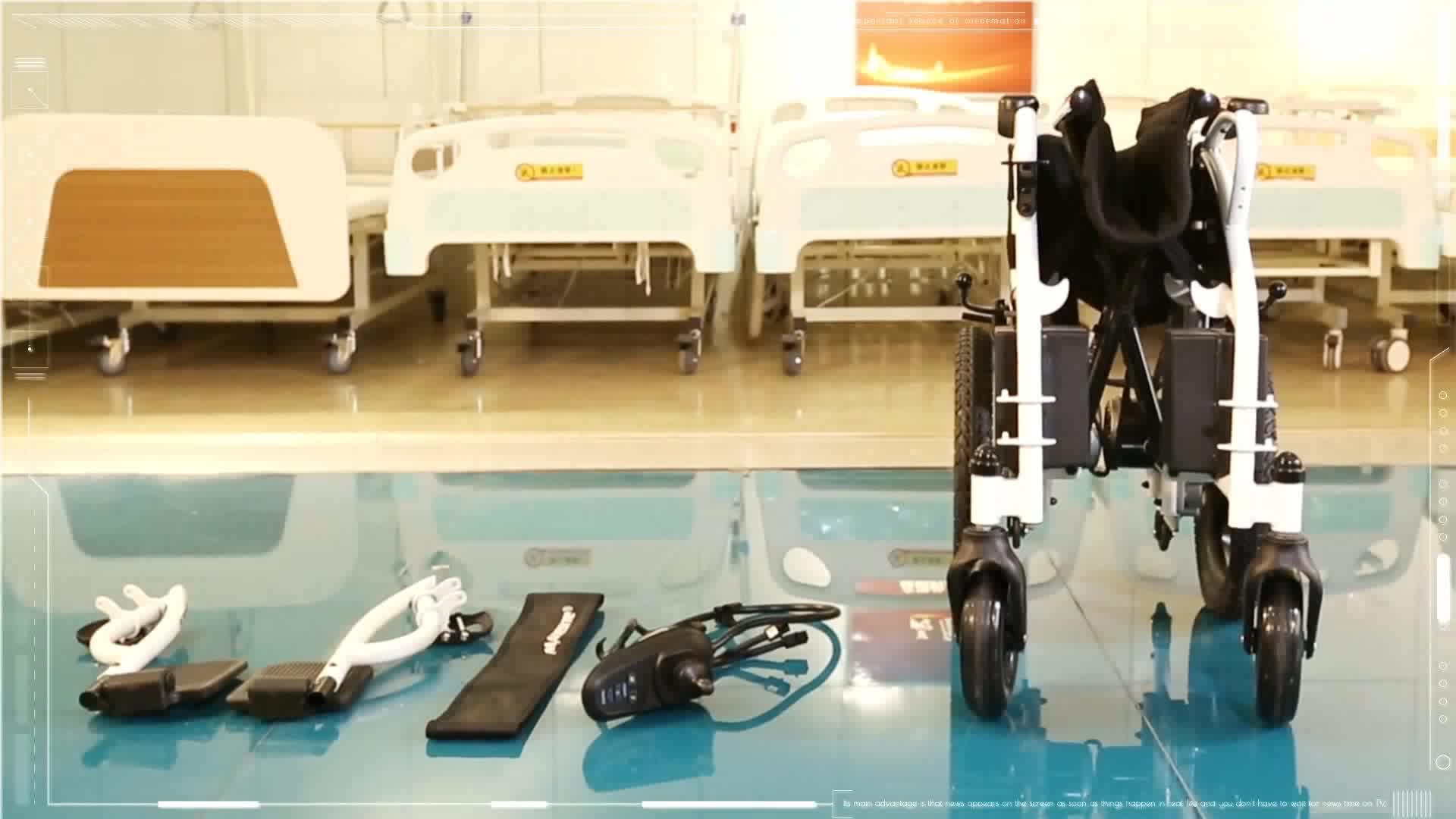 저렴한 가격 경량 스틸 접이식 전동 휠체어