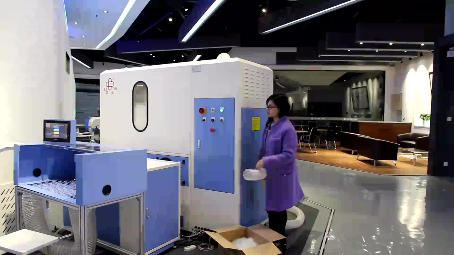 Kaz Tüyü Konfeksiyon Otomatik Tüy Aşağı Dolum Makinesi