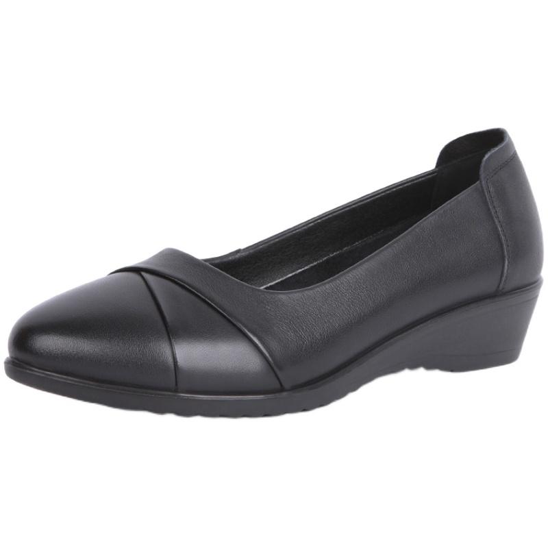 奥康真皮妈妈鞋2021春季新款单鞋用后评测