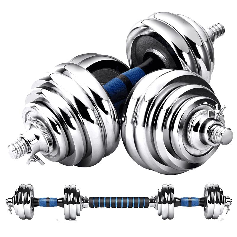 凯速哑铃男士健身器材家用电镀公斤kg健身练臂肌杠铃亚玲套装运动