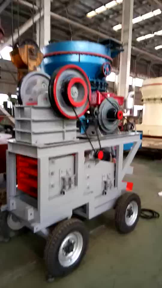 Gravel Diesel Crushing Portable Plant Kenya Jaw Crusher