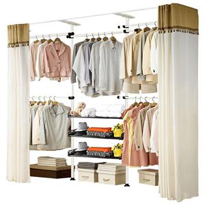 住宅衣服收纳柜简易钢架组合布衣柜