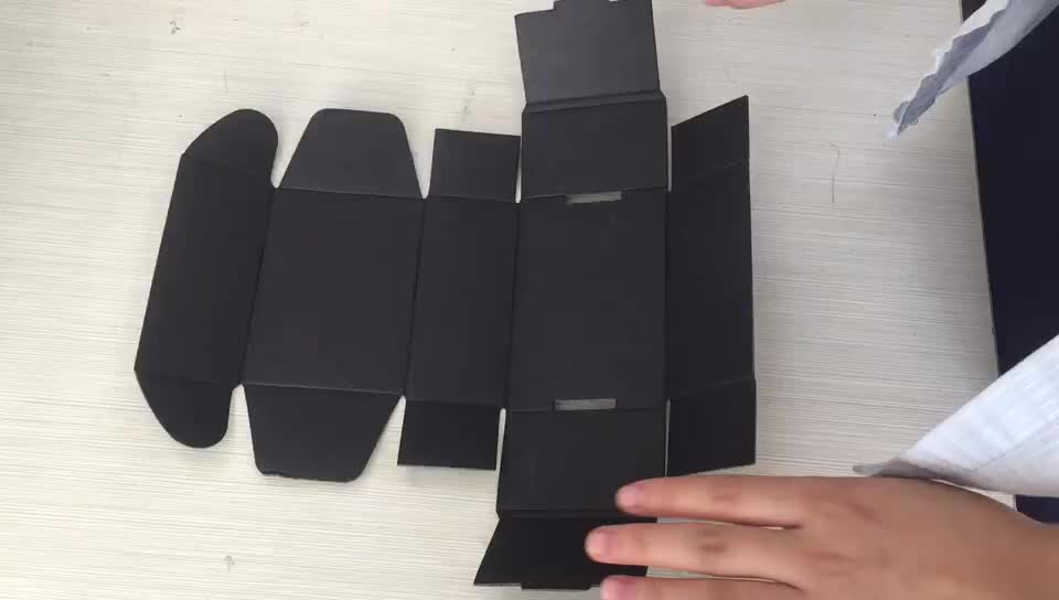 Wholesale folding color printed matte black corrugated shipping boxes