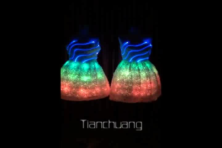 Le plus populaire LED Lumineux princesse robe pour la partie, chanteur, danseur